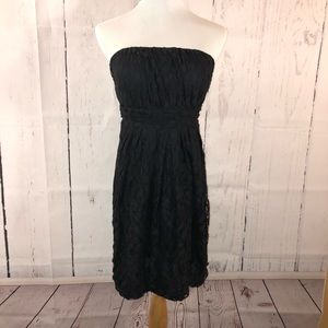 Lace dress with sweetheart top.